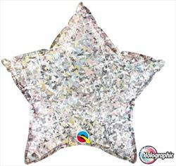 Qualatex Balloons Star Holographic 23cm Silver