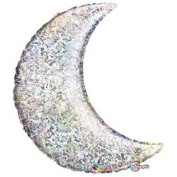 "Crescent Moon Holographic Silver 89cm (35"")"