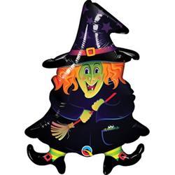 "Wacky Witch Mini Shape 14"""