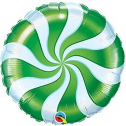 Qualatex Balloons Candy Swirl Green 23cm
