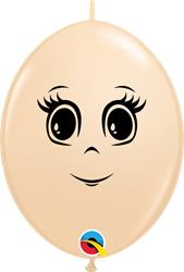 Ladies Face on Qualatex Blush Quick Link 15cm