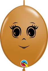 Ladies Face on Qualatex Mocha Quick Link 15cm