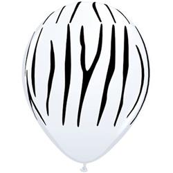 Qualatex Balloons Zebra Stripes 28cm.