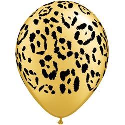 Qualatex Balloons Leopard Spots Gold 28cm
