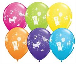 Qualatex Balloons Cute and Cuddly Pets 28cm