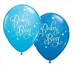 Qualatex Balloons Baby Boy Stars 28cm