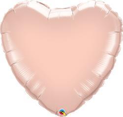 "Qualatex Balloons Heart Foil Metallic Rose Gold 36"" Unpackaged"