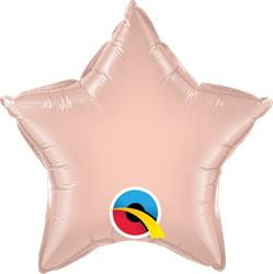 Qualatex Balloons 23cm Star Rose Gold
