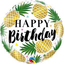 Birthday Golden Pineapple 45cm