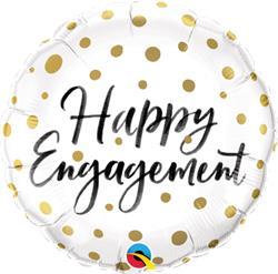 Happy Engagement Gold Dots 45cm