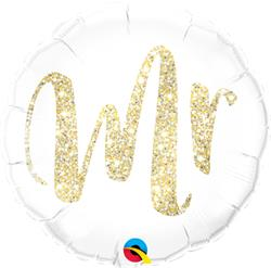 Qualatex Balloons Mr Glitter Gold 45cm