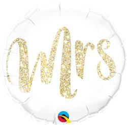 Qualatex Balloons Mrs Glitter Gold 45cm