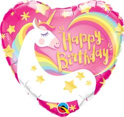 Qualatex Balloons Magical Unicorn Birthday 45cm