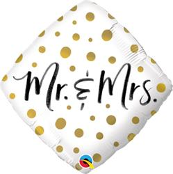 Mr. & Mrs. Gold Dots 45cm