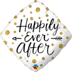 Happily Ever After Gold Dots 45cm