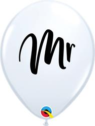 Qualatex Balloons MR Black Print 28cm