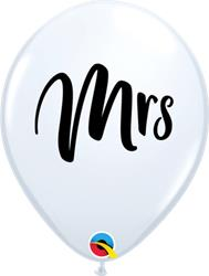 Qualatex Balloons MRS Black Print 28cm