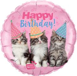 Qualatex Balloons Studio Pets - Birthday Kittens 45cm