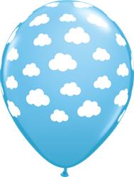 Qualatex Balloons Pale Blue Clouds 28cm NEW