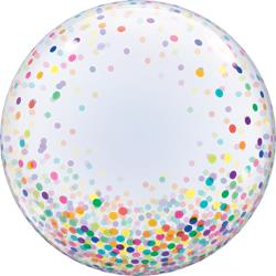 Deco Bubble Colourful Confetti Dots 60cm