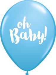 Qualatex Balloons Blue Oh Baby! 28cm