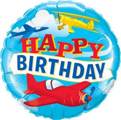 Qualatex Balloons Birthday Airplanes 45cm