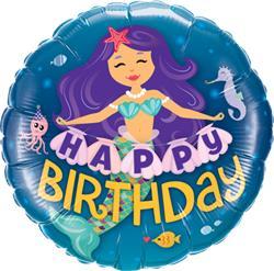 Qualatex Balloons Birthday Mermaid 45cm