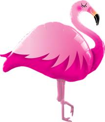 Qualatex Foil Shape Pink Flamingo 115cm.