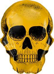 Golden Skull 91cm Qualatex Foil
