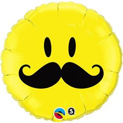 Qualatex Balloons Smile Face Moustache  45cm