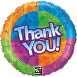 Qualatex Balloons Thank You! Star Pattern 45cm