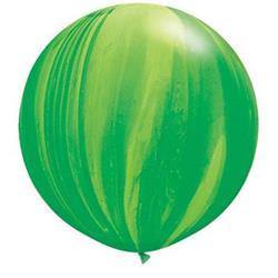 Qualatex Balloons Green Rainbow Super Agate 76cm