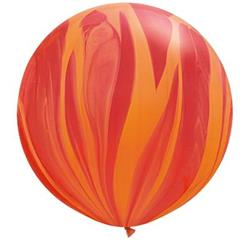 Qualatex Balloons Red Orange Rainbow Super Agate 76cm