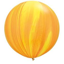 Qualatex Balloons Yellow Orange Rainbow Super Agate 76cm