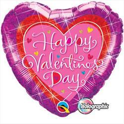 Qualatex Balloons Valentines Dazzling Heart 45cm