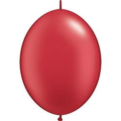 Quicklink Balloons 30cm Pearl Ruby Red Qualatex