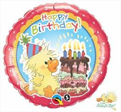 Qualatex Balloons Witzy Birthday Party 45cm disc by qtex 22/8