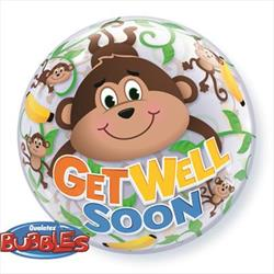Get Well Monkeys Bubble 55cm