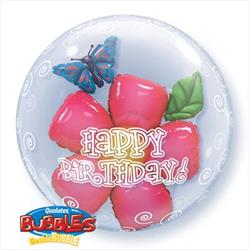 Birthday Flower Double Bubble 60cm