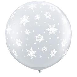 Qualatex Balloons Snowflakes Around 90cm