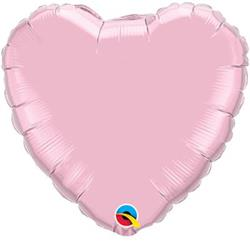 Qualatex Balloons Heart Foil Pearl Pink 90cm Unpackaged