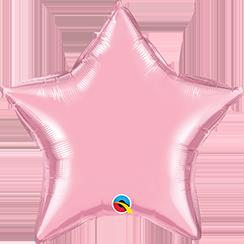 "Star Foil Pearl Pink 36""  Unpackaged"
