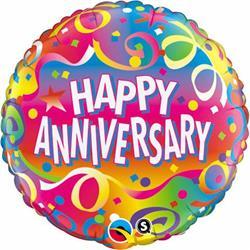 Qualatex Balloons Anniversary  Confetti 45cm