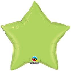 Star Foil Lime Green 50cm   Unpackaged