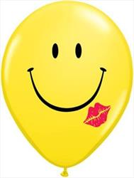 Qualatex Balloons Smile & A Kiss 28cm Yellow