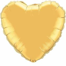 "Heart Foil Metallic Gold 36""   Unpackaged"