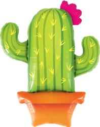 Qualatex Foil Balloon Potted Cactus 99cm