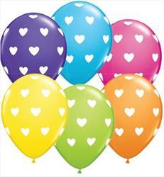 Qualatex Balloons Big Hearts Tropical Asst 28cm