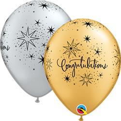 Congratulations Elegant Silver & Gold 28cm