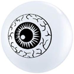 Qualatex Balloons Eyeballs Top Print 12cm